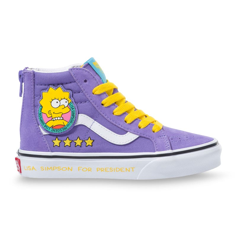 Sk8-Hi Zip Lisa Simpsons Prez Sizes 11-3