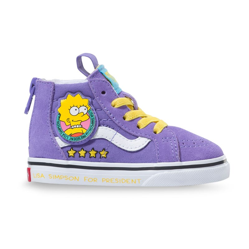 Sk8-Hi Zip Lisa Simpsons Prez Sizes 4-10