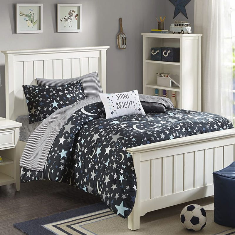 6 Pieces Twin Comforter Set - Stars