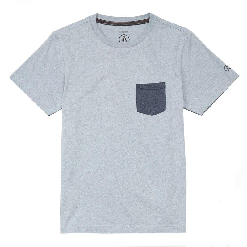 Heather Pocket T-Shirt 8-16y