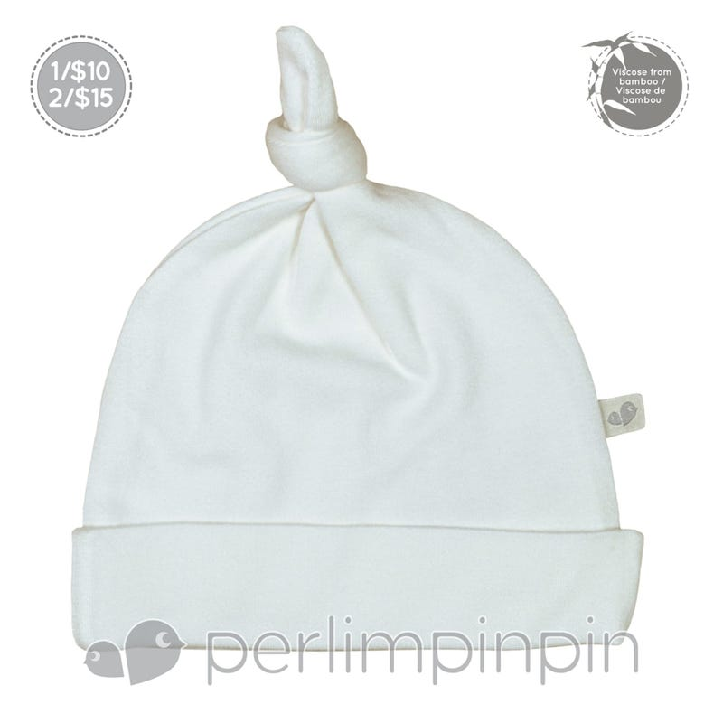 Bamboo Knotted Hat 0-9m - Ivory