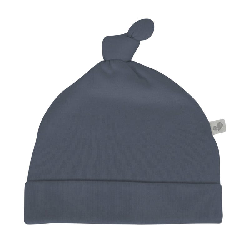 Bamboo Knotted Hat 0-9m - Navy