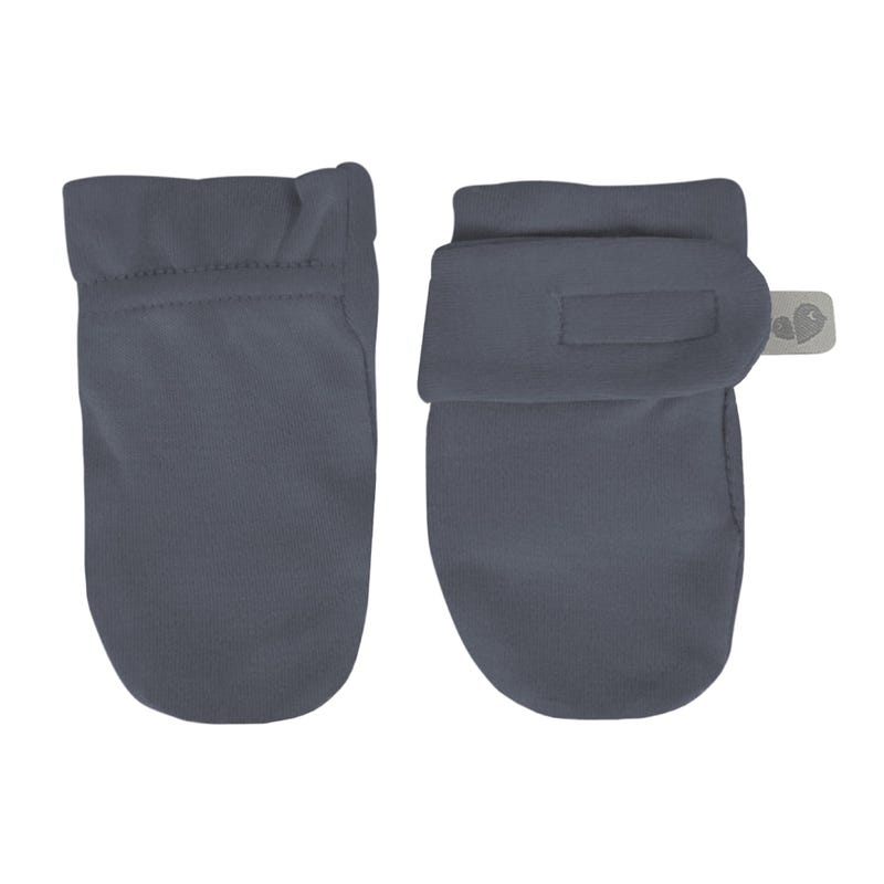 Bamboo Anti-Scratch Mitts 0-9m - Navy
