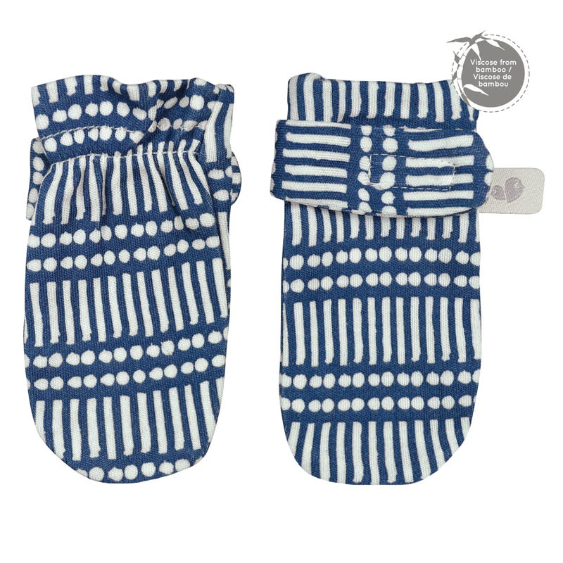 Mitaines de Protection Bambou 0-9mois - Marine