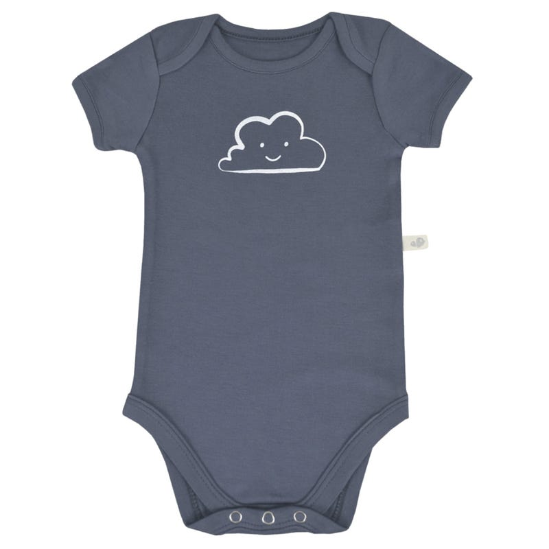 Bamboo Solid Short Sleeve Onesie 0-9m - Blue Cloud