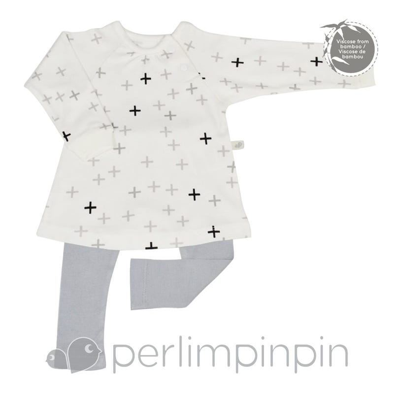 Quilted Bamboo T-Shirt and Lounge Pants 0-6m - Plus Signs
