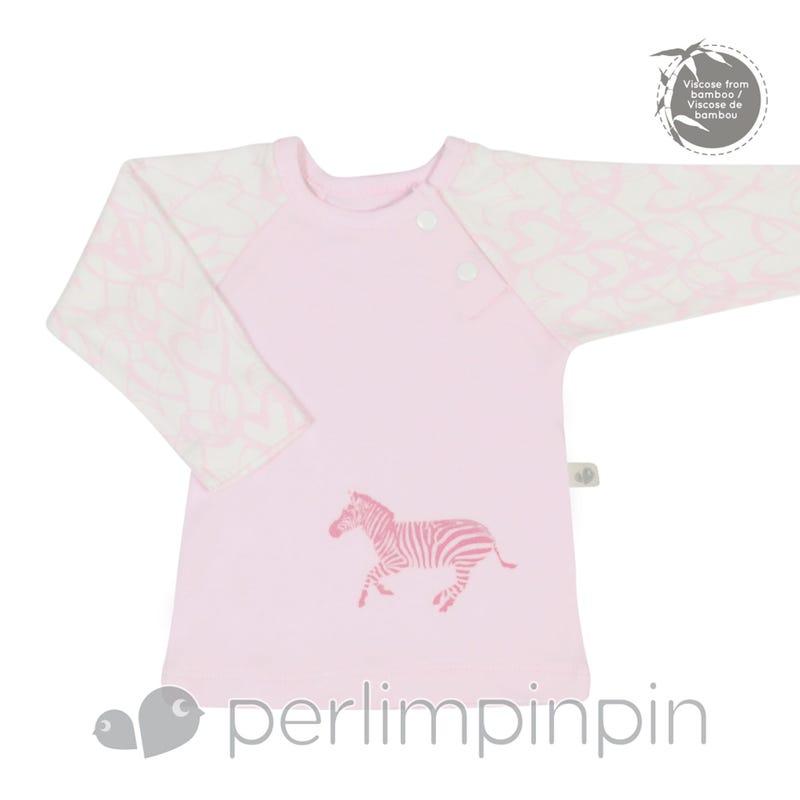 Bamboo Long Sleeve Shirt 0-9m - Pink Hearts