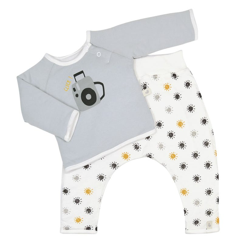 Ens.2pces bamboo suns 0-9m