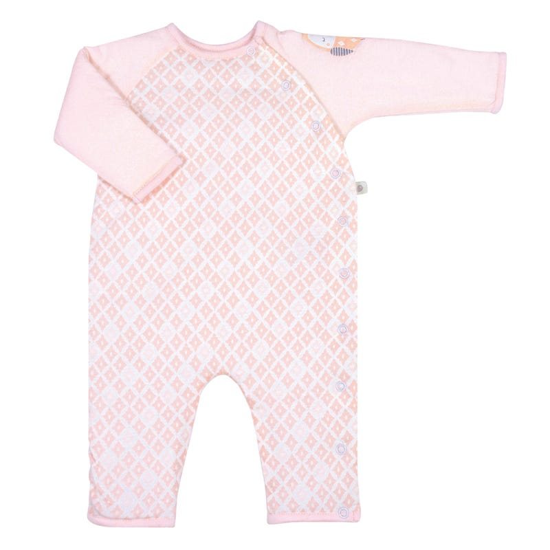 Quilted Bamboo One-Piece 0-9m - Diamond