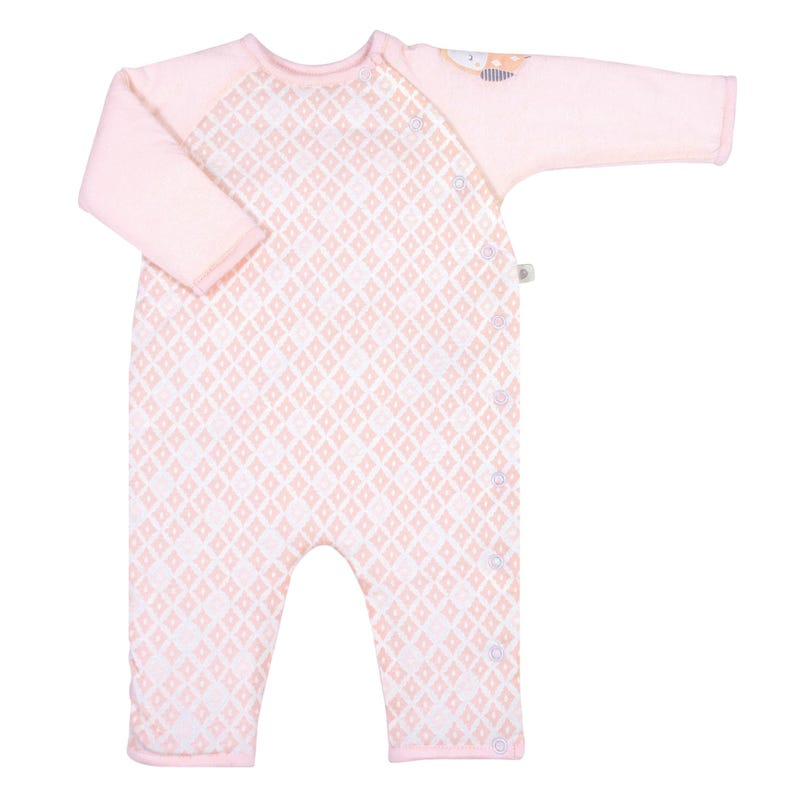 1pce bamboo pink 0-9m