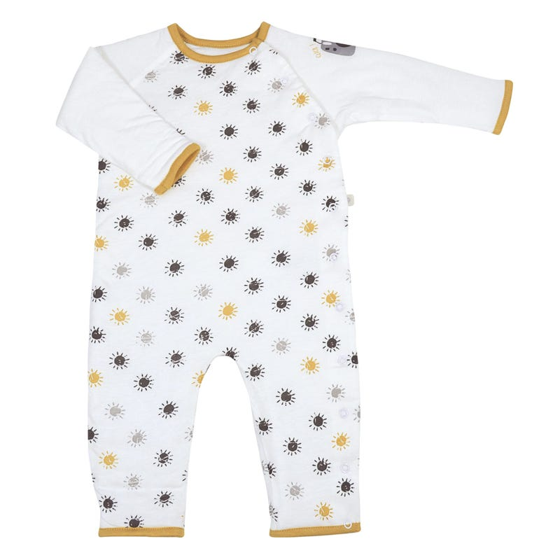 Quilted Bamboo 1-Piece Pajama 0-9m