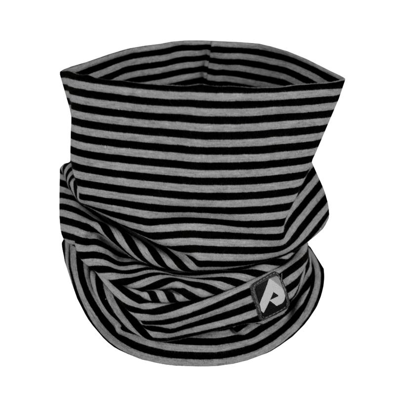 Cotton Jersey Neck Warmer 0-6y - Black Striped