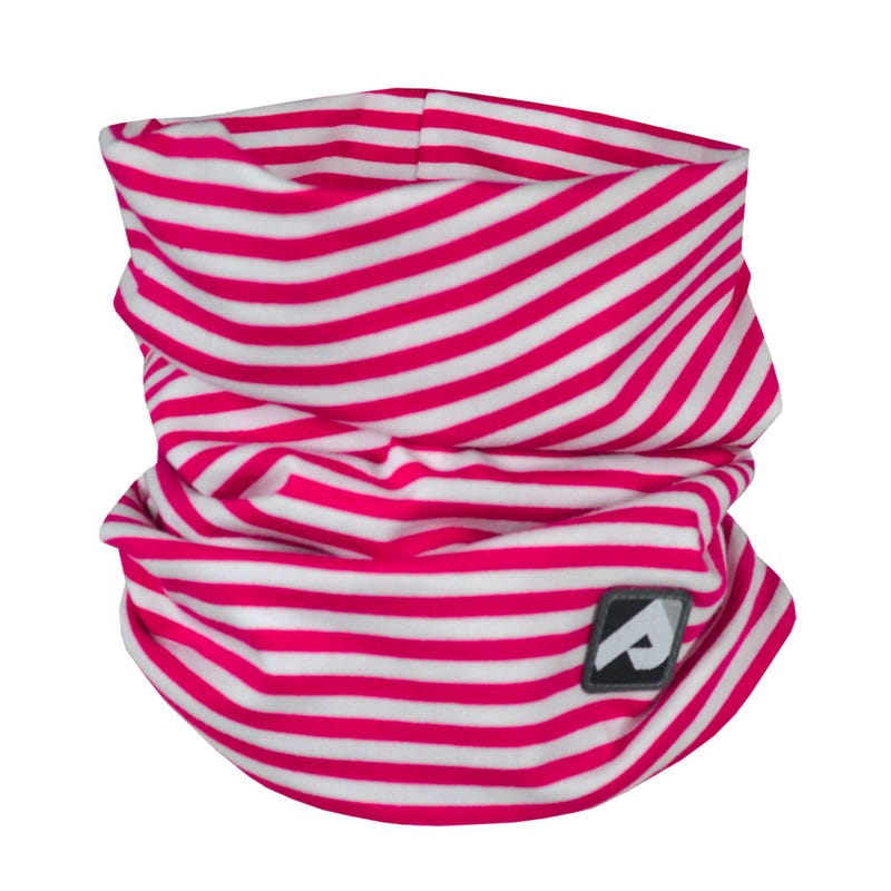 Cotton Jersey Neck Warmer 0-6y - Fuschia Striped