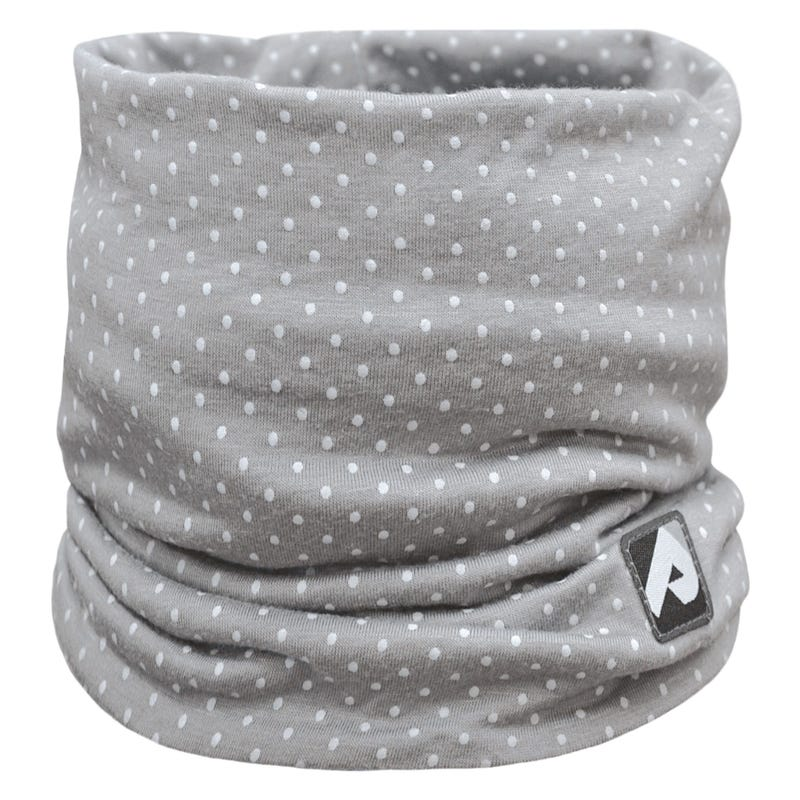 Cotton Jersey Neck Warmer 0-6y - Pink Dots