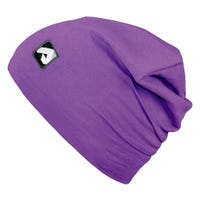 Cotton Beanie 0-24m - Purple