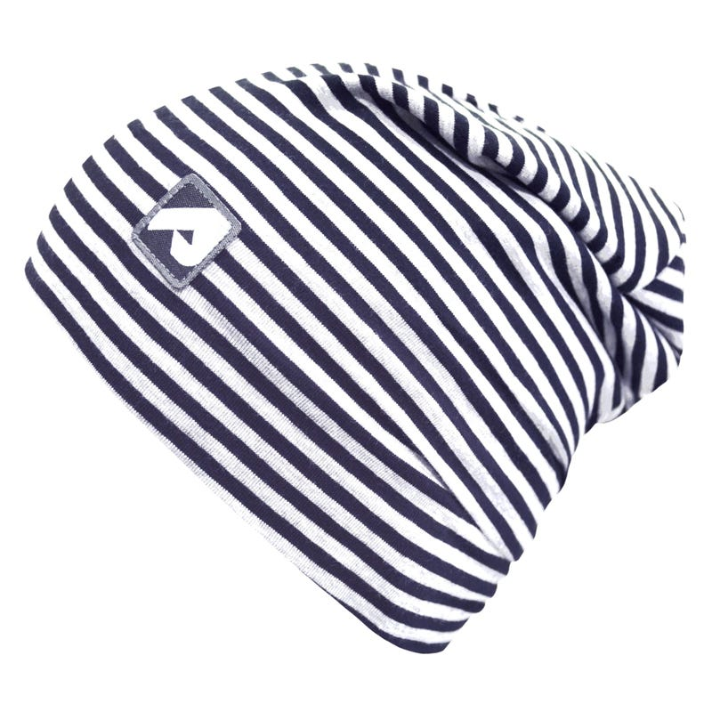 Striped Navy Beanie 2-6