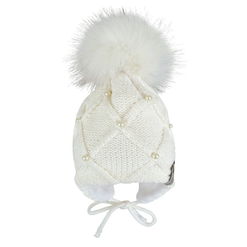 Tuque Perles 0-24mois - Blanc