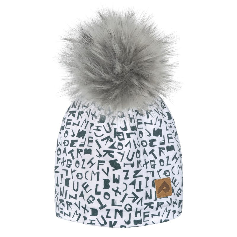 Letter Pompom Beanie 2-12y