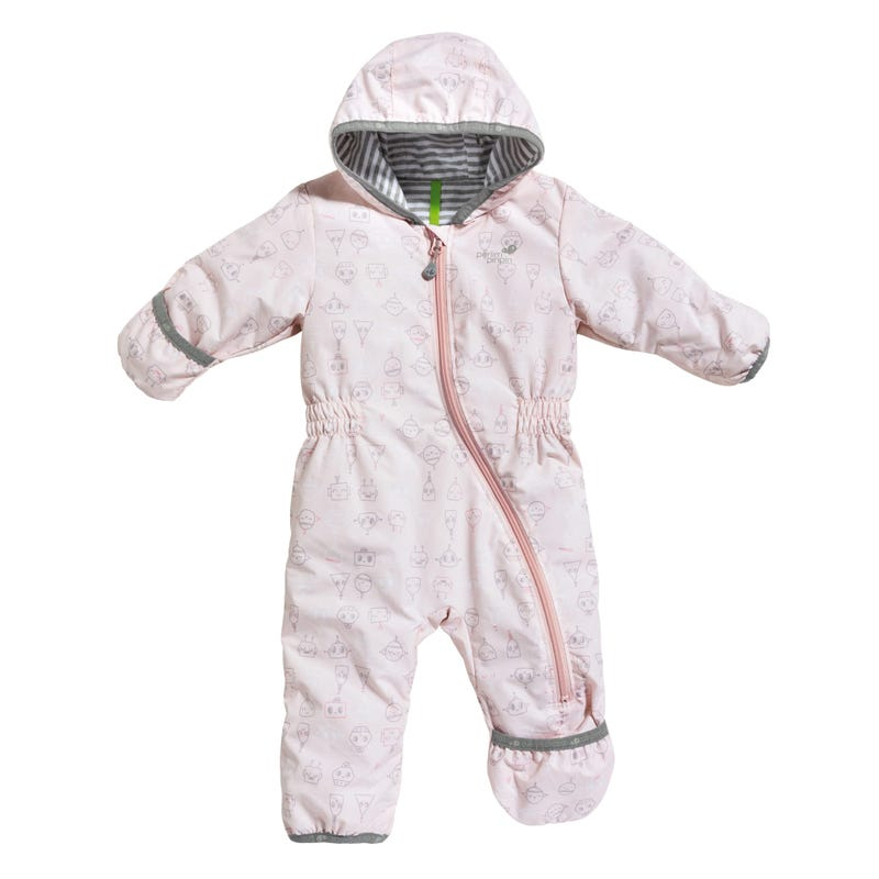 One-Piece Outerwear 0-12m - Pink Robots