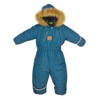 Teal Textured Snowsuit 9-24m