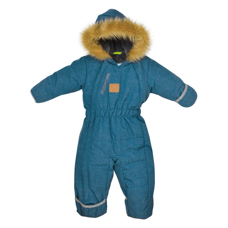 Teal Textured Snowsuit 9-24m