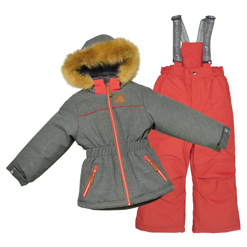 Grey Girls Snowsuit 2-6