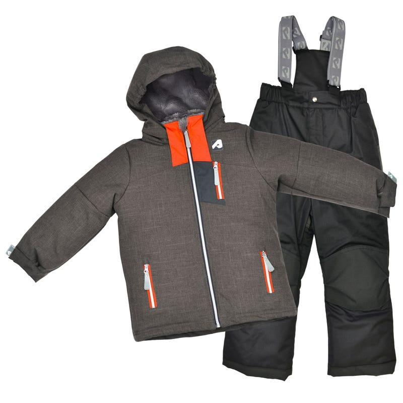 Black Mix Snowsuit 2-6