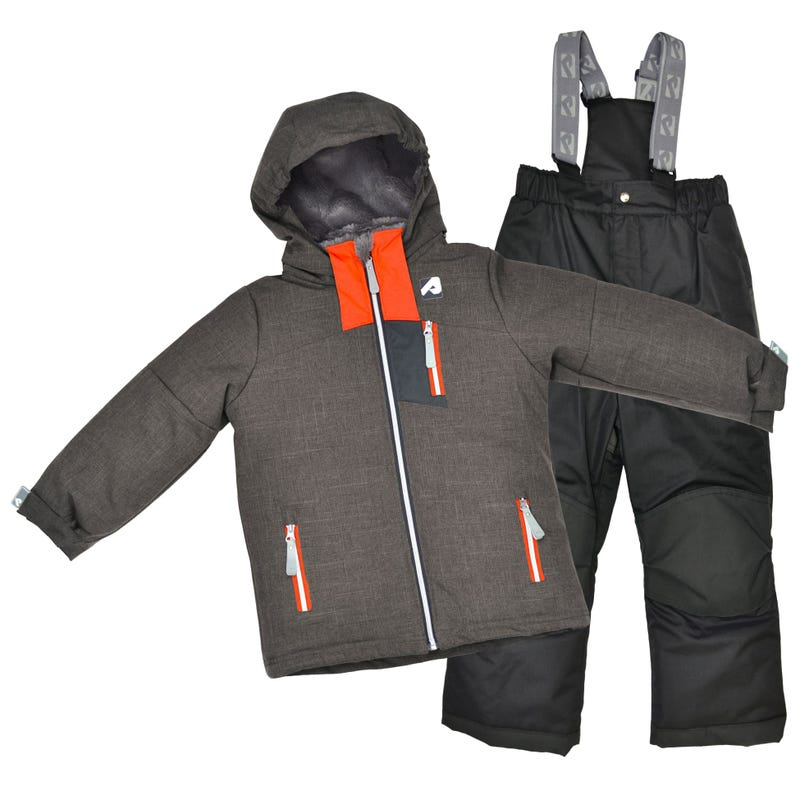 Black Mix Snowsuit 2-6