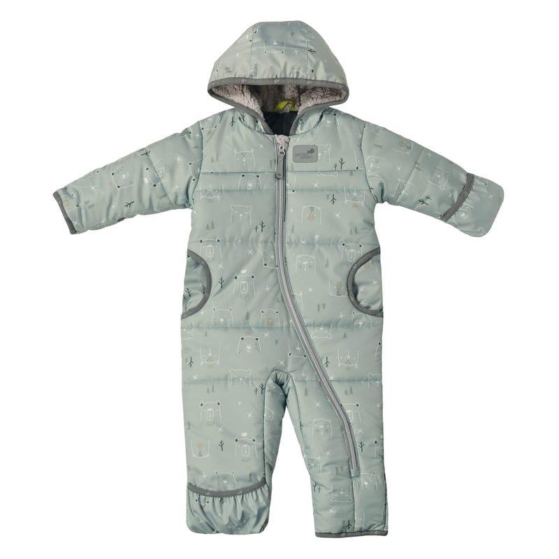 Green Bears Snowsuit 9-24m