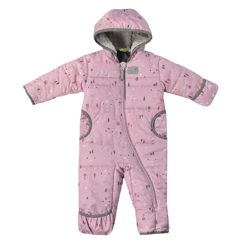Pink Bears Snowsuit 9-24m