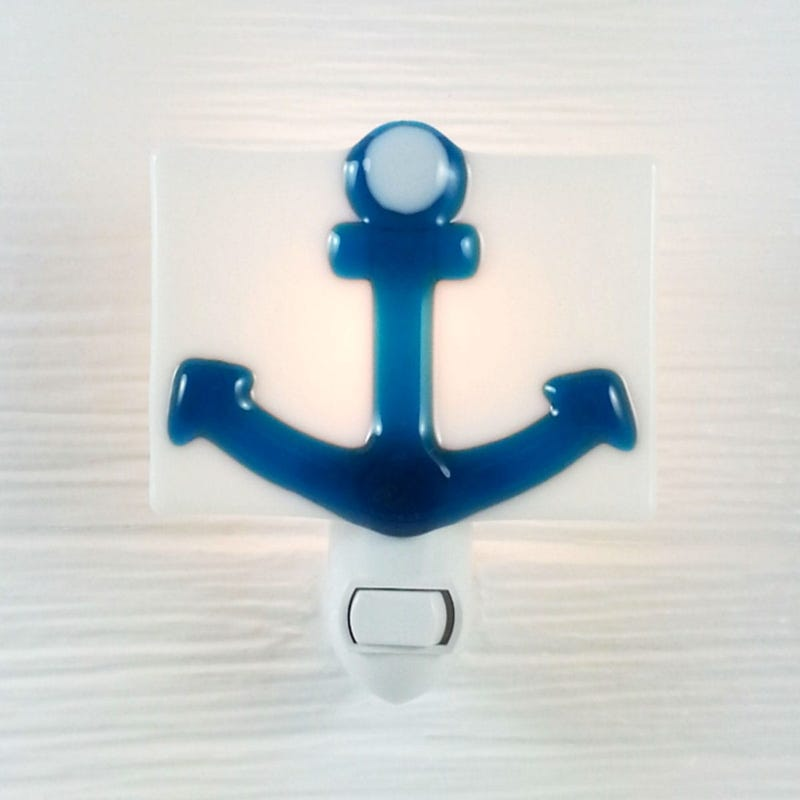 Glass Nightlight - Anchor