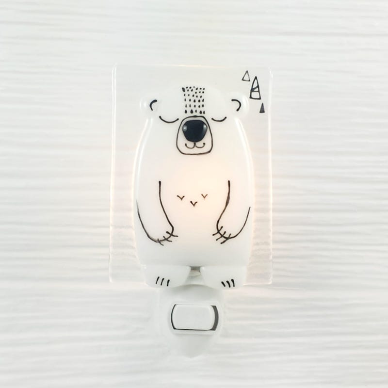 Glass Nightlight - Boris Polar Bear