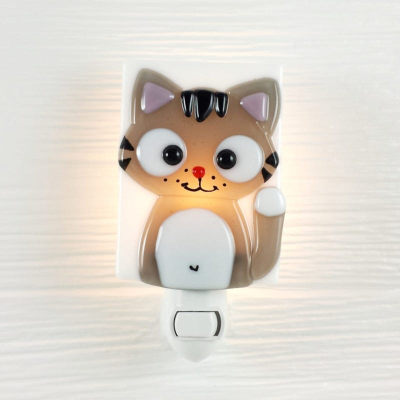 Glass Nightlight - Ferguson Gray Cat