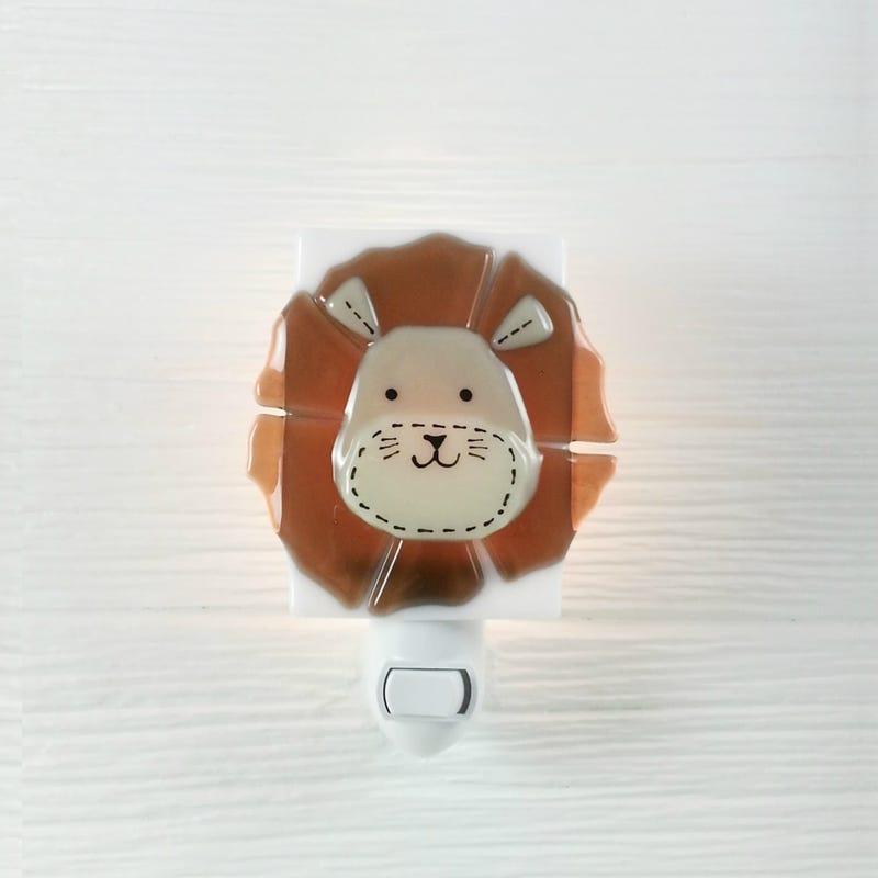 Glass Nightlight - Leon Lion