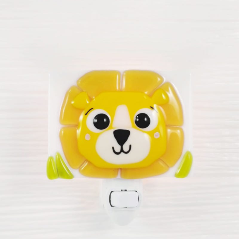 Glass Nightlight - Marcus The Lion