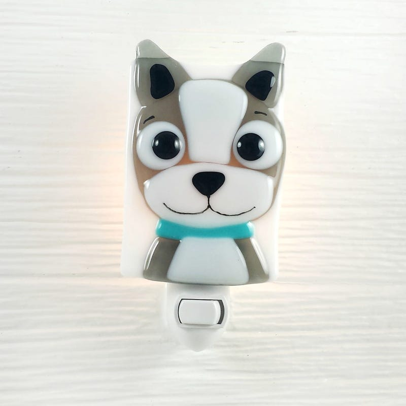Glass Nightlight - Ragout Dog