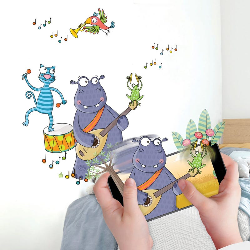 Interactive Room Decor - I'm discovering music!