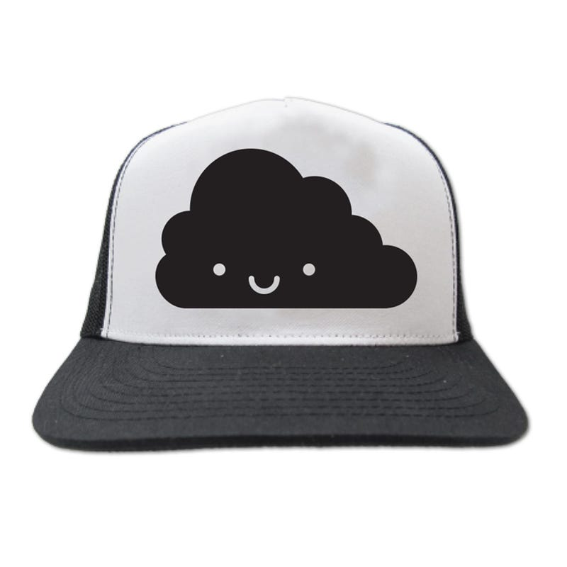 Kawaii Cloud Snapback Trucker Cap 4-6y