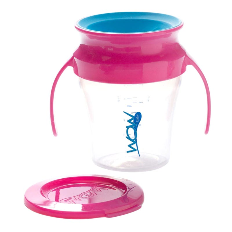 7oz 360 Degree Cup With Handle - Pink