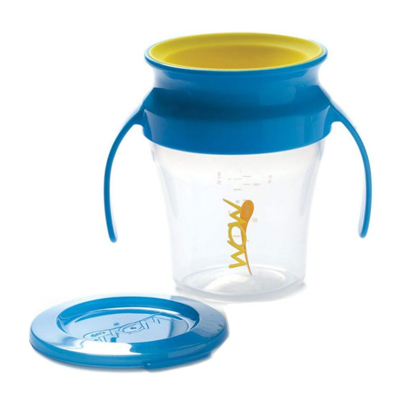 7oz 360 Degree Cup With Handle - Blue