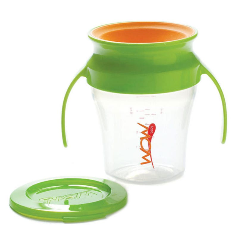 7oz 360 Degree Cup With Handle - Green