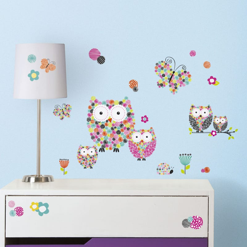 Wall Stickers - Pink Owls