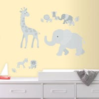 Wall Stickers - Animals Gray Jungle