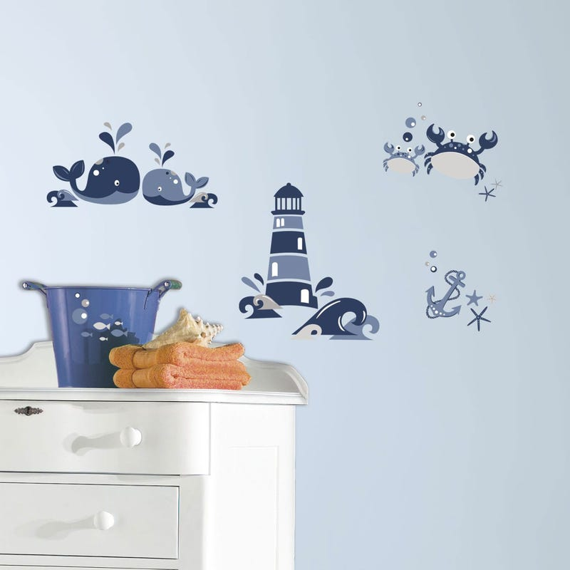 Wall Stickers - Lighthouse & Whales