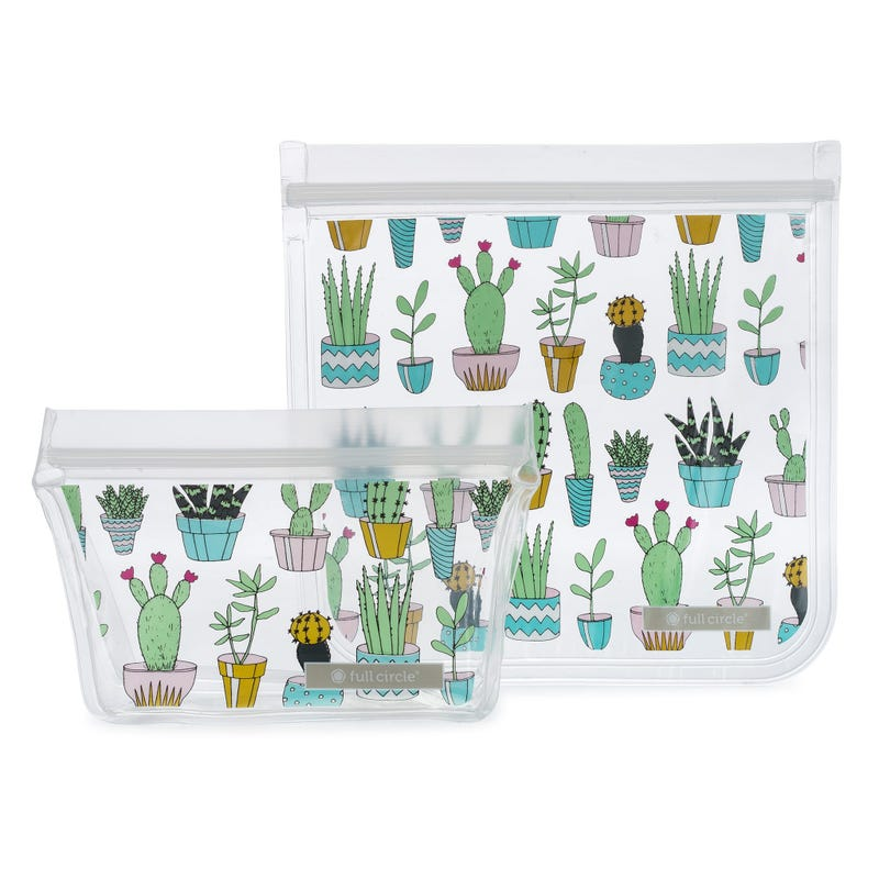 Ziptuck Reusable Lunch Bags 2-pack - Cactus Party
