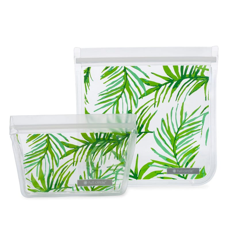 Ziptuck Reusable Lunch Bags 2-pack - Palm Leaves