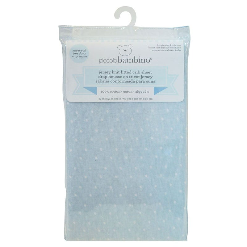 Crib Fitted Sheet - Blue