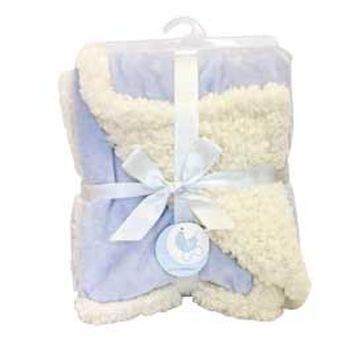Chamois Reversible Blanket - Blue