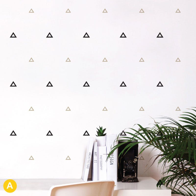 Triangles Stickers -Black/Gray