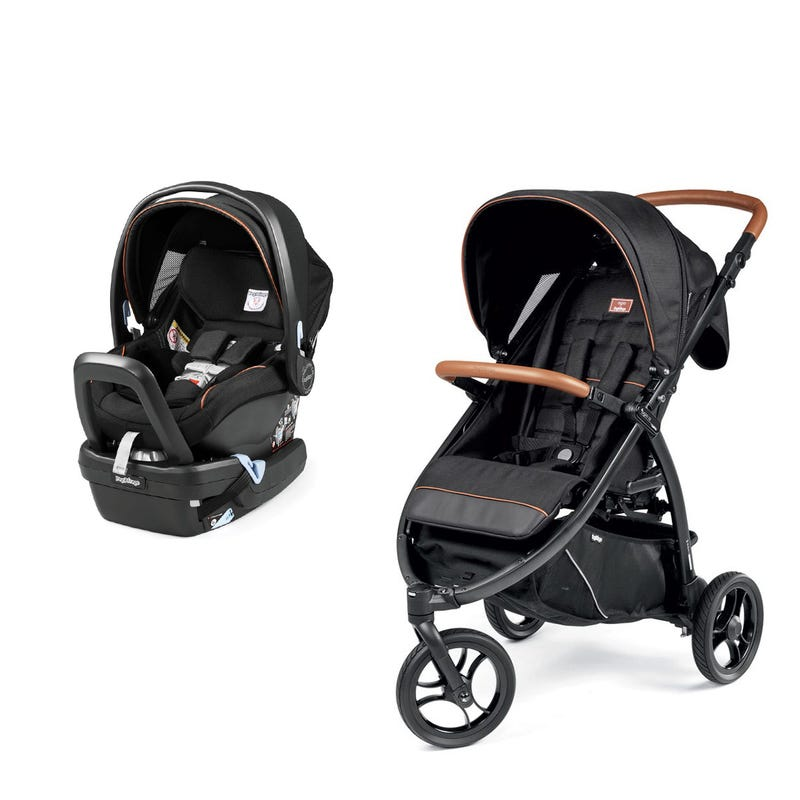 Bundle  Z3 Agio Stroller and Nido Agio Car Seat- Noir